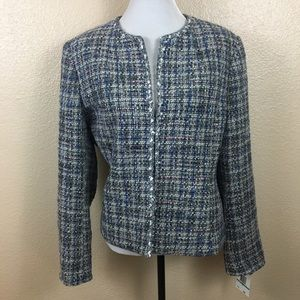 NWT Jones New York tweed blazer/jacket sz 16